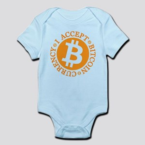I accept Bitcoin currency round Body Suit